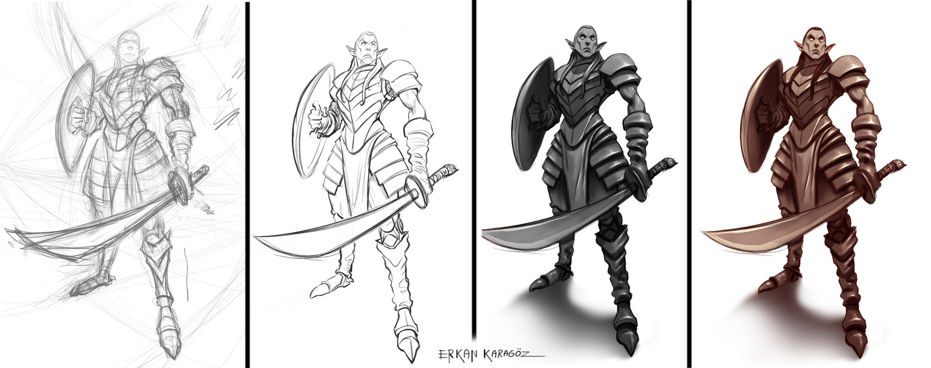 Erkan karagoez elf sketchprogress