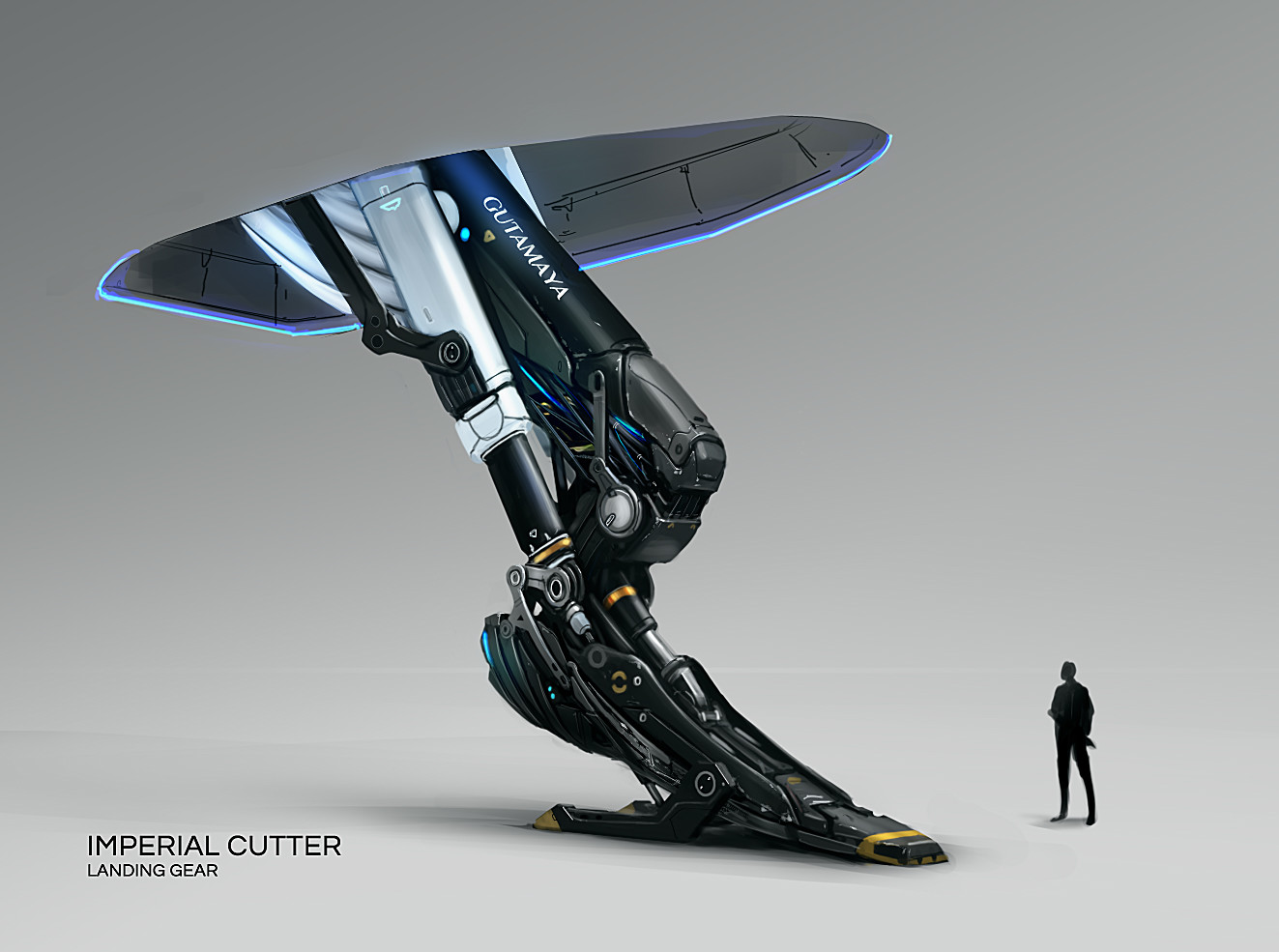 Artstation Imperial Cutter Landing Gear Tom Long