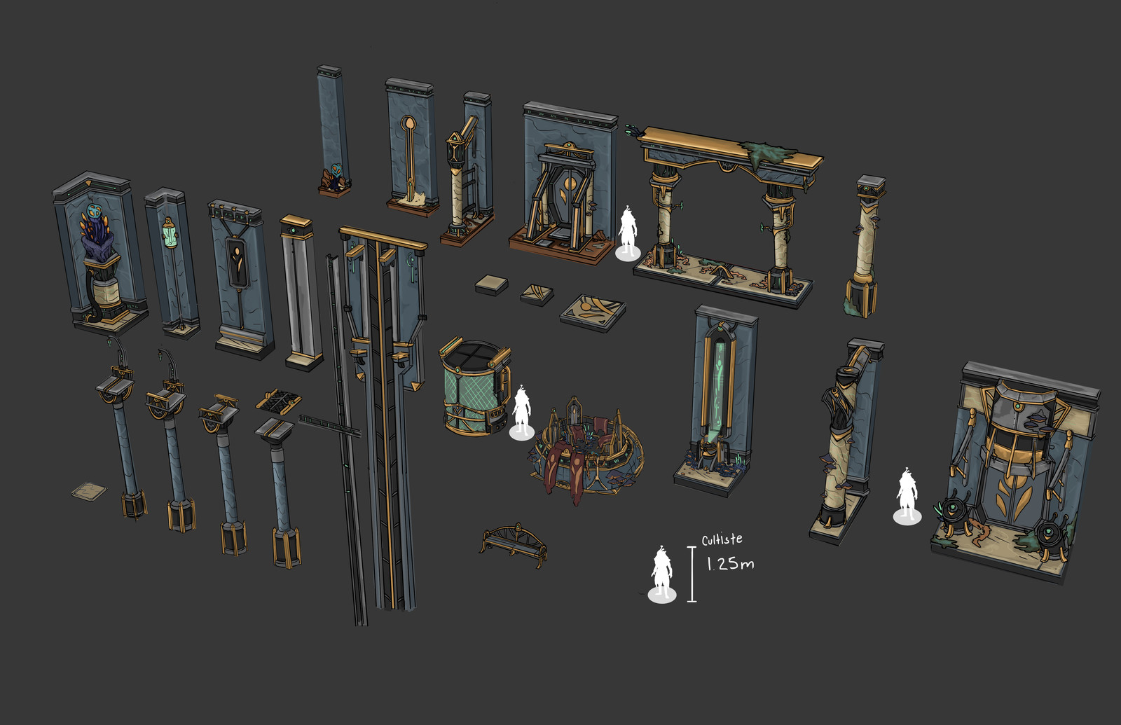 Environment concept 02 Some paint-over i did on modular meshes made by an other artist on the team.