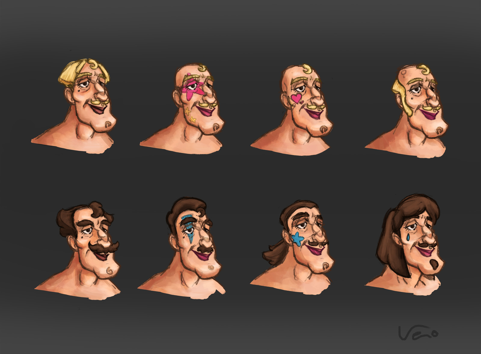Knight's face concepts.