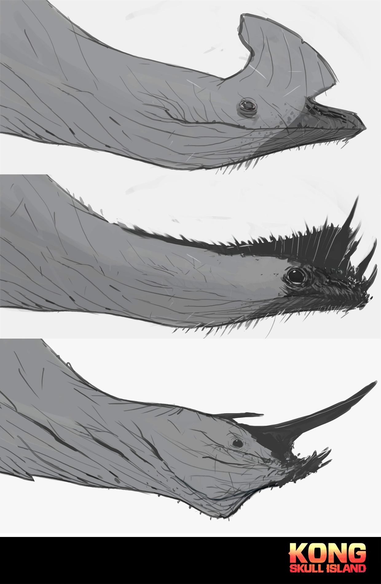head studies, when it wasn't sure if the creature would be a reptile