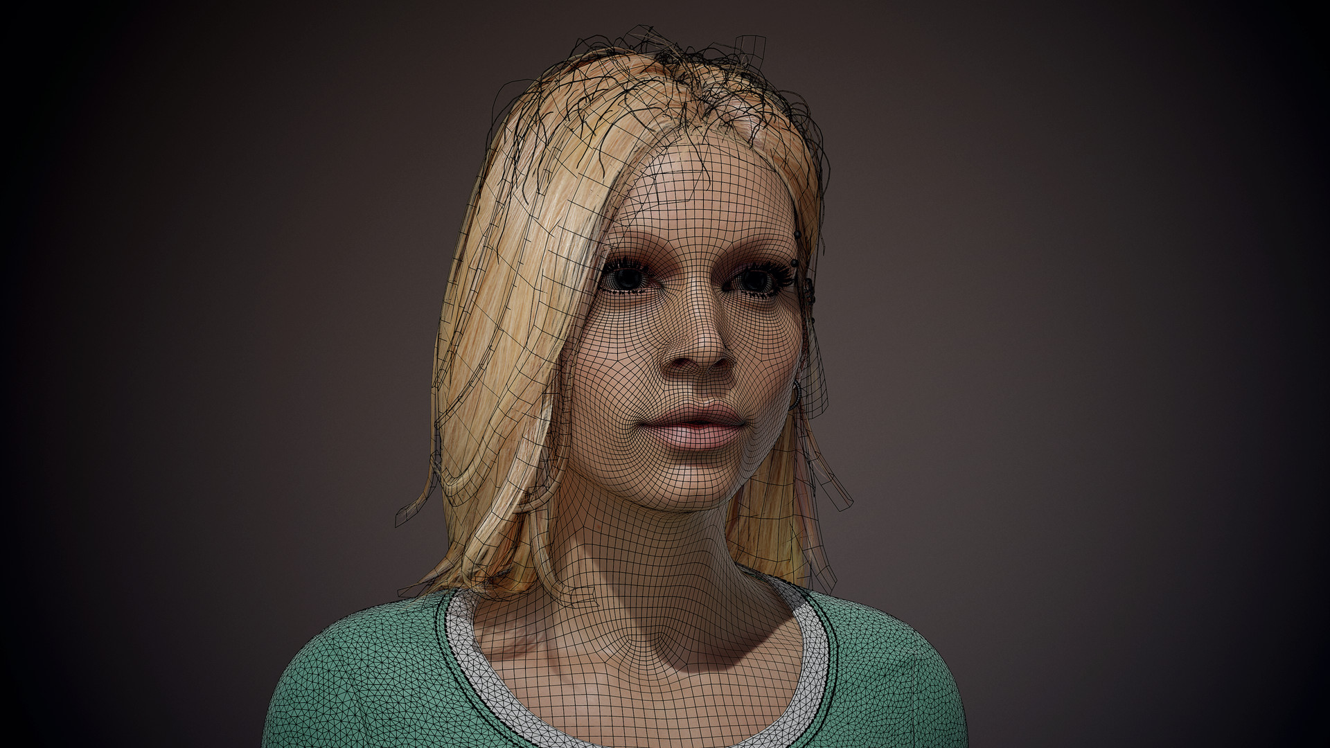 Room 8 studio hairstyle new topology