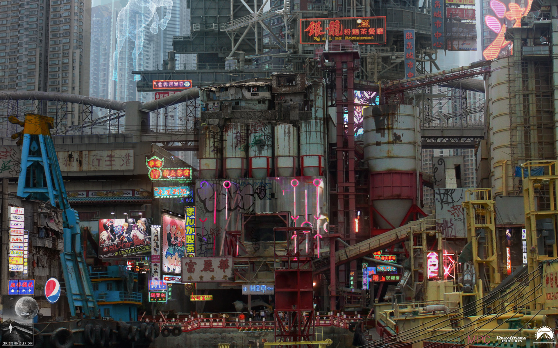 Artstation Ghost In The Shell Concept Art Chris Kesler