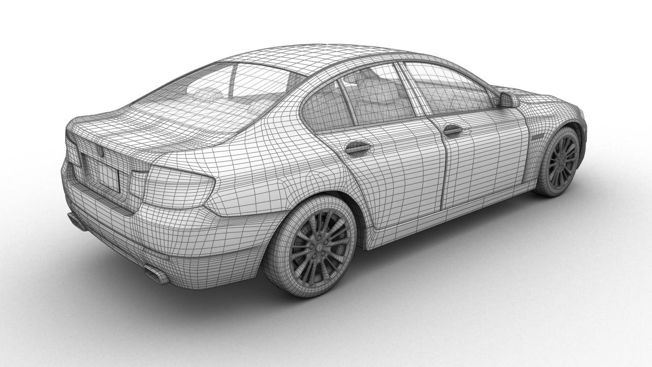 Maxime roch bmw series5 sedan back