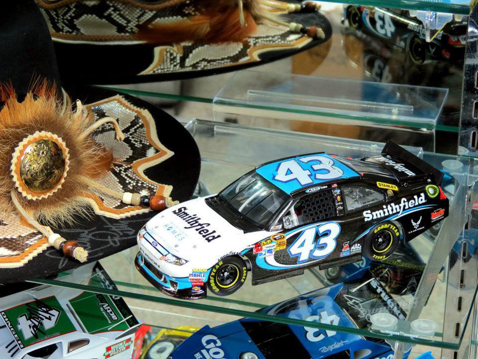My own personal custom 1/24th scale 2012 #43 Smithfield diecast car on display