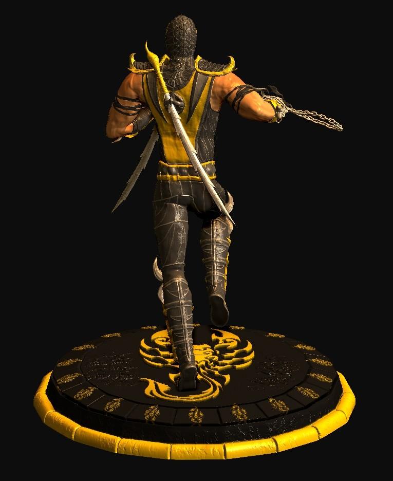 Artstation Mortal Kombat 9 3d Scorpion Ali Ayoub
