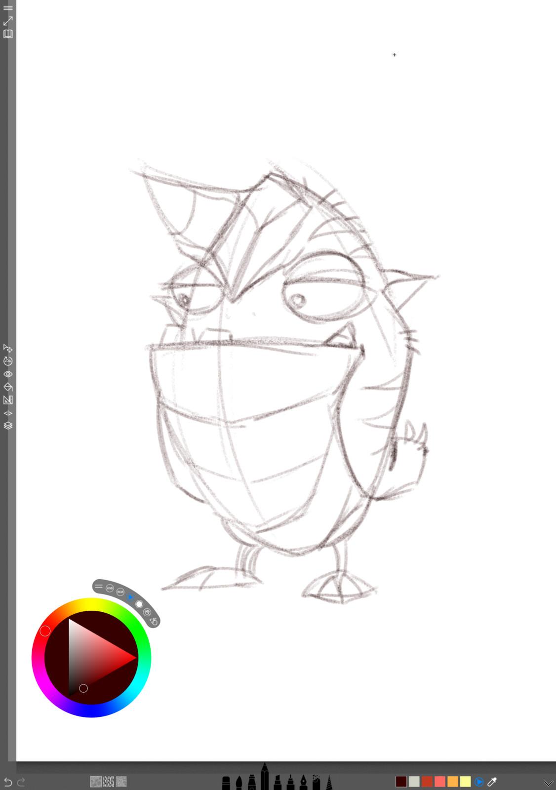 01 - Initial concept sketch