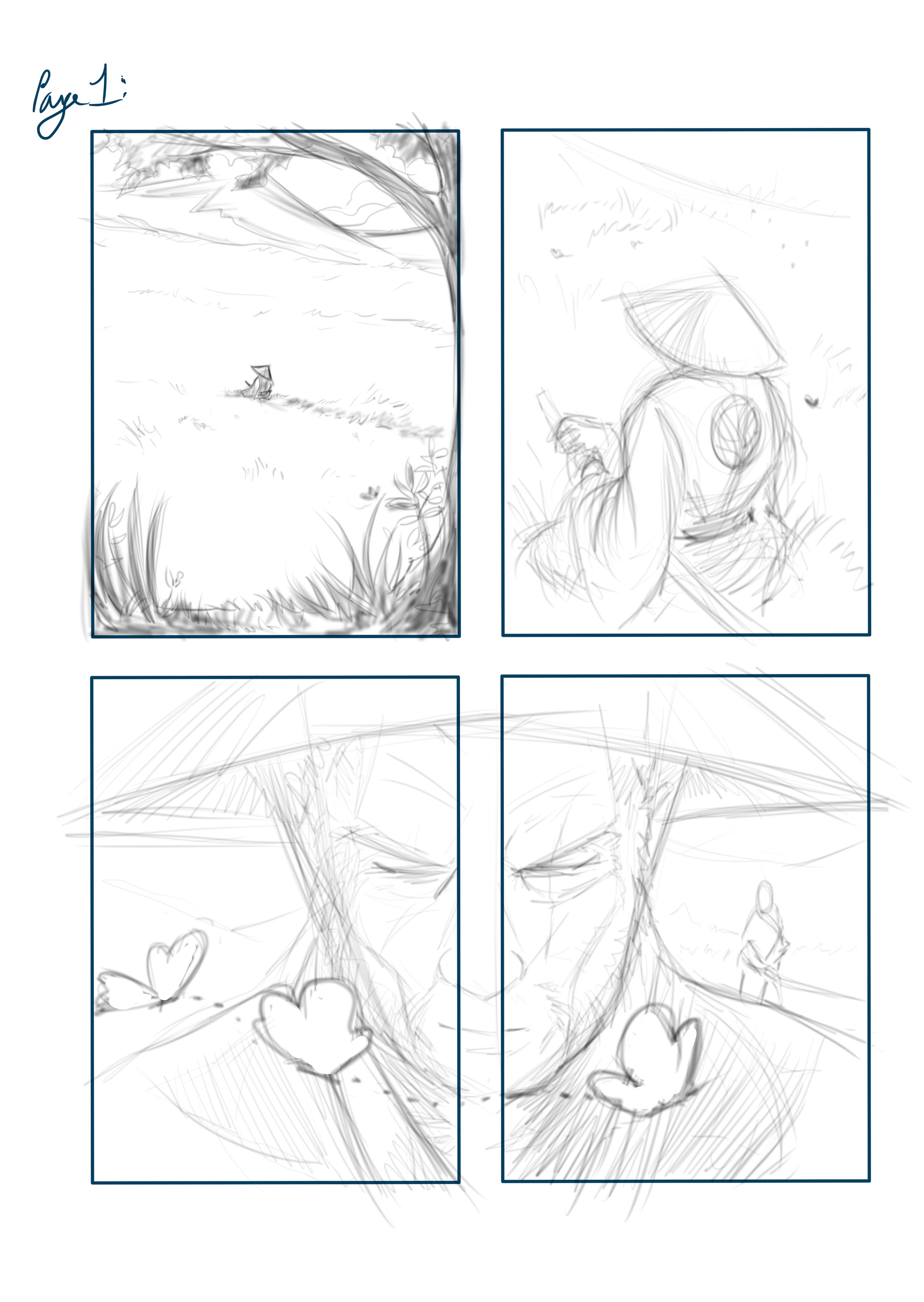 Loc nguyen mini comics page 1pencil