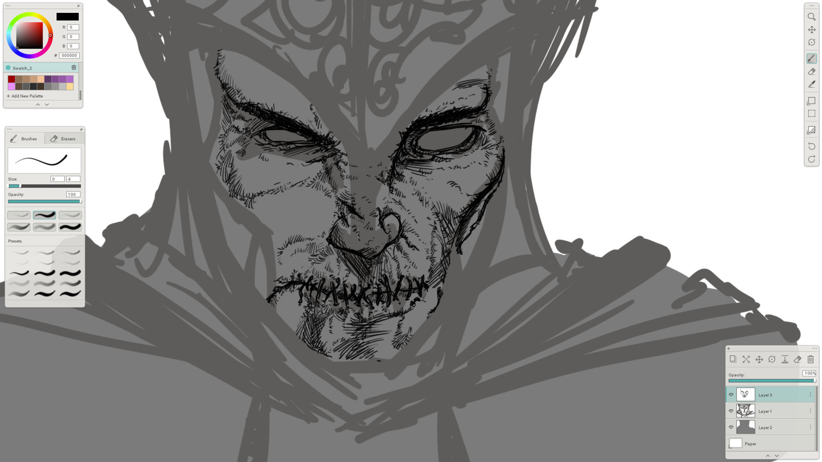 03 - Inking in the details