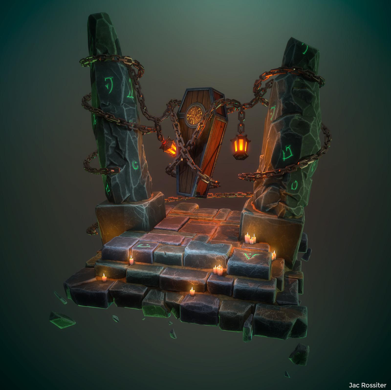 The Beast's Awakening - Stylised Diorama