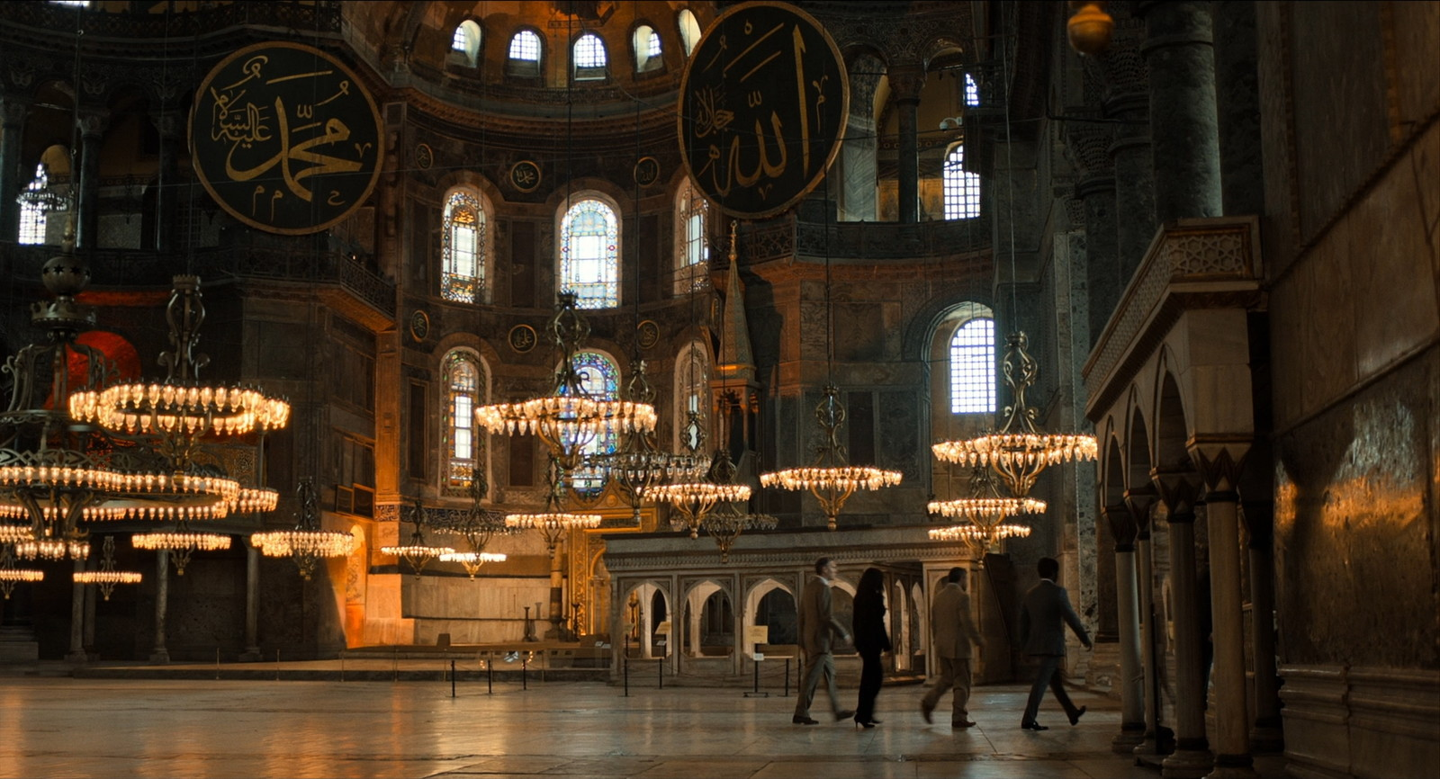 Hagia Sophia (Left side of the screen is CG)
