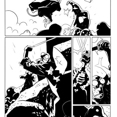 Matt james hellboy the island sample page 5 of 5 by snakebitartstudio db55f8d