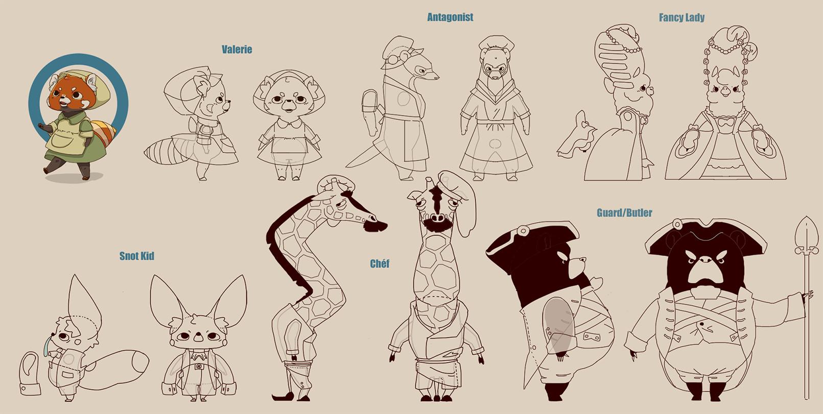 Oceane nasstrom characterslineart