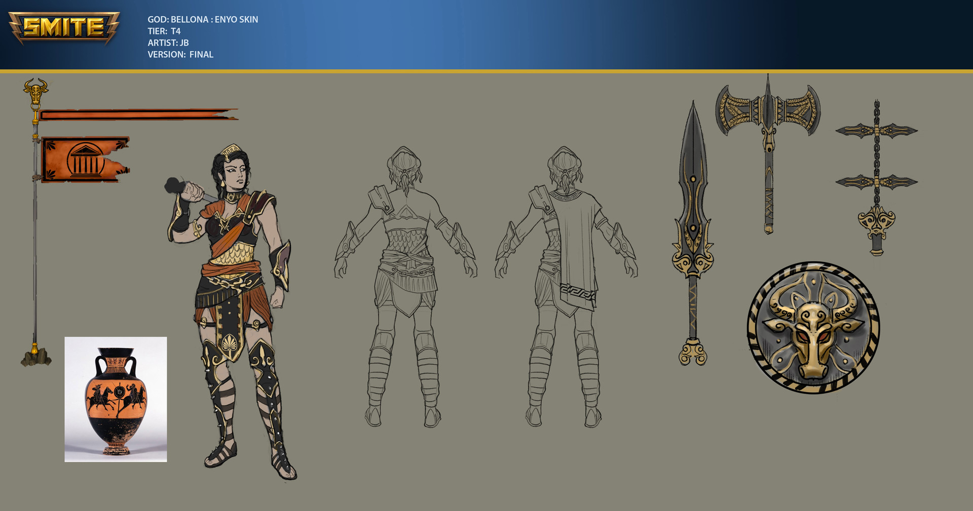 Concept art for Enyo skin for Bellona (the Greek version of this Roman Goddess)