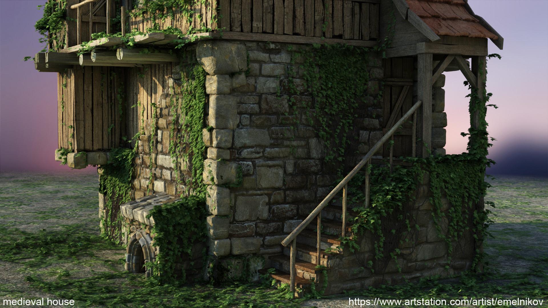 Eugene melnikov medieval house1 render frm4