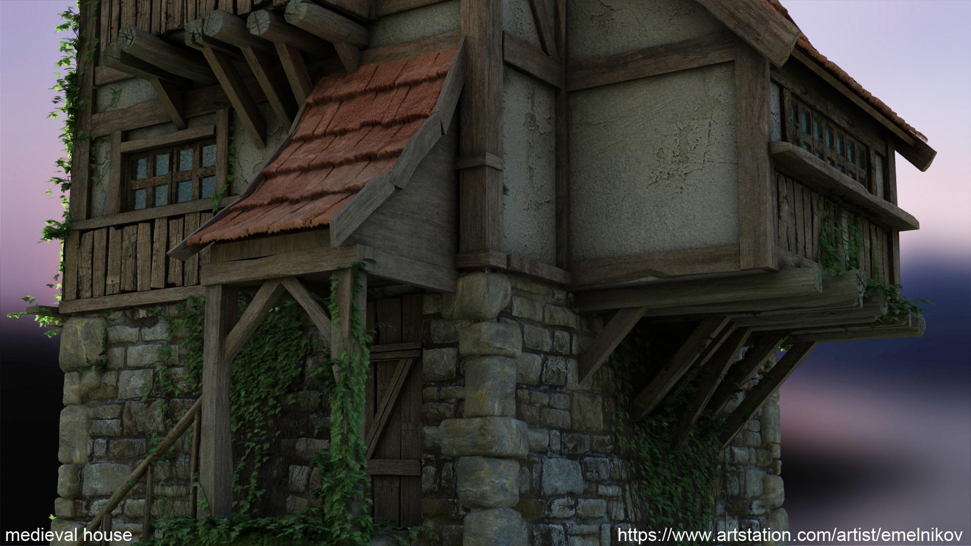 Eugene melnikov medieval house1 render frm13