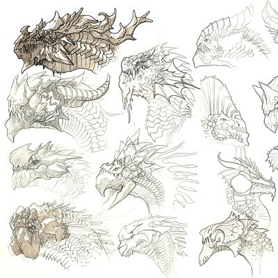 Edin durmisevic sketchbook dragon hex