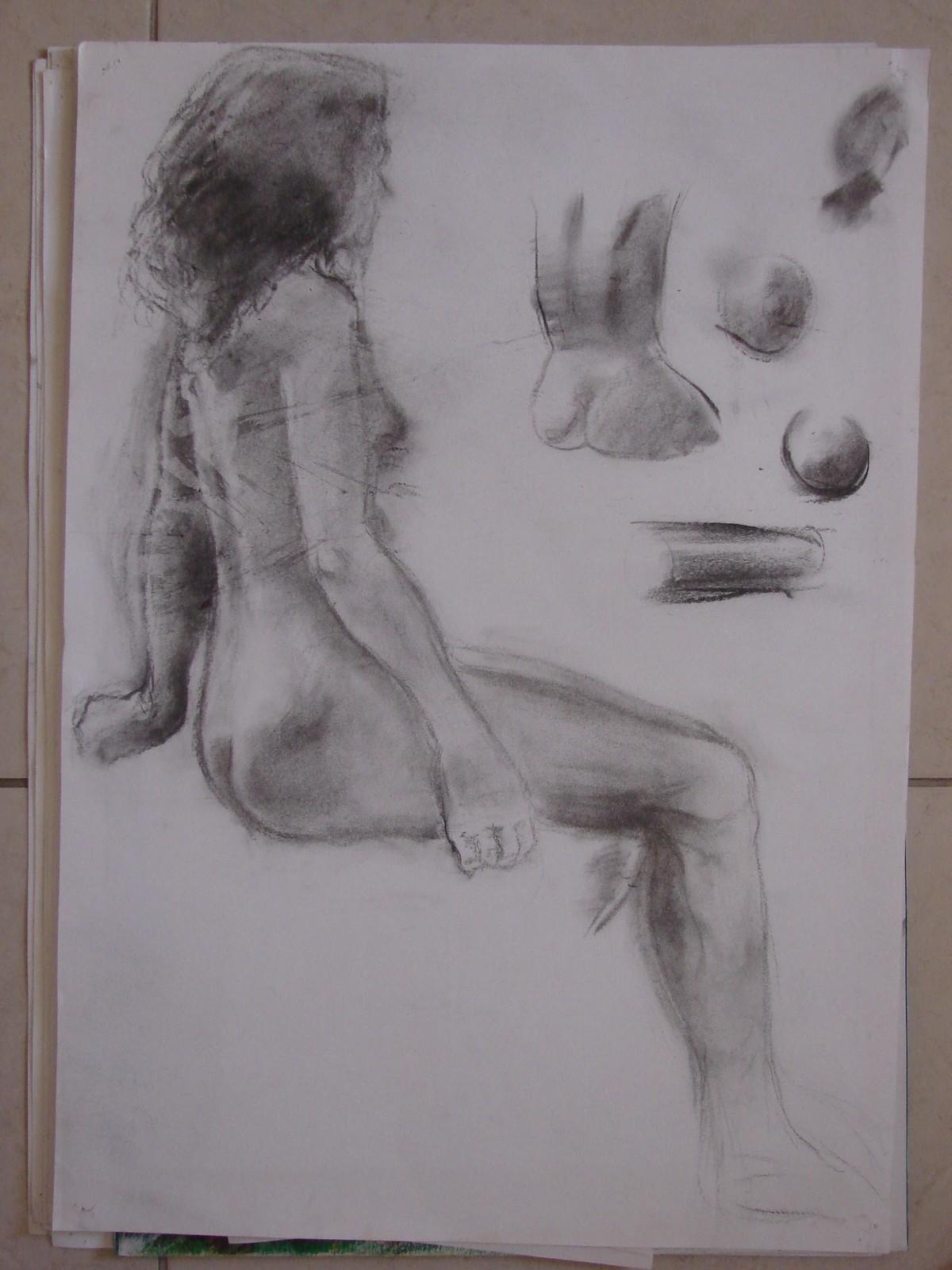 woman sitting back