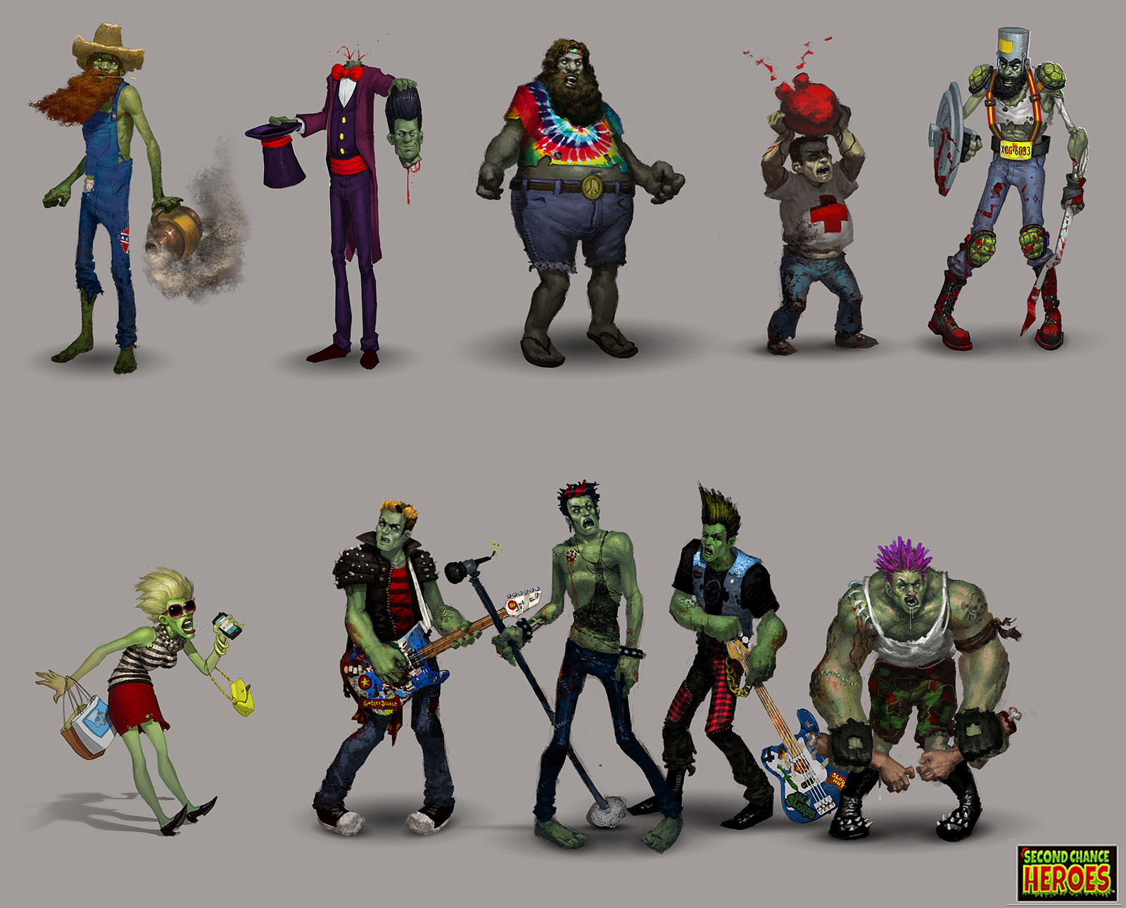 """2nd Chance Heroes - mobile game concept art. That wizards name is """"the amazing head."""" You're welcome."""