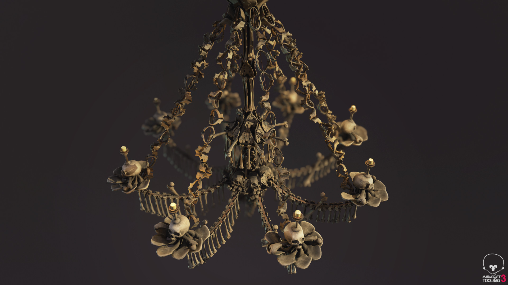Artstation sedlec ossuary bone chandelier lewis labram bone chandelier aloadofball Image collections