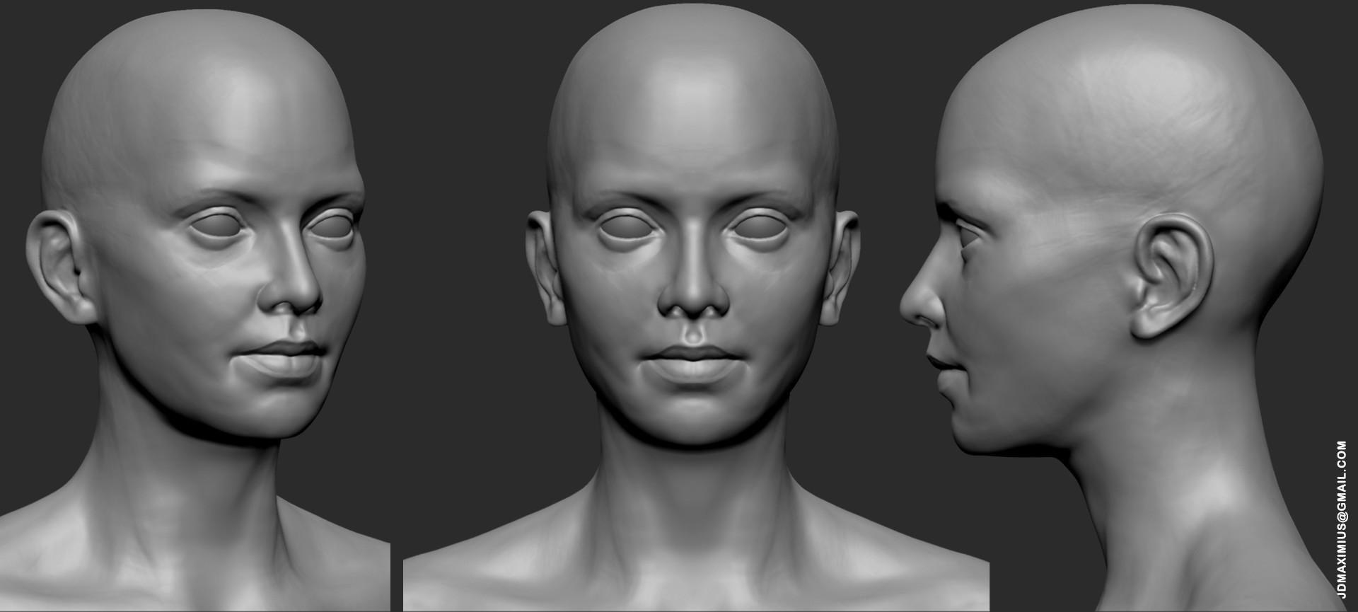 Artstation Anatomy Face Practice Juan Diego Lugo