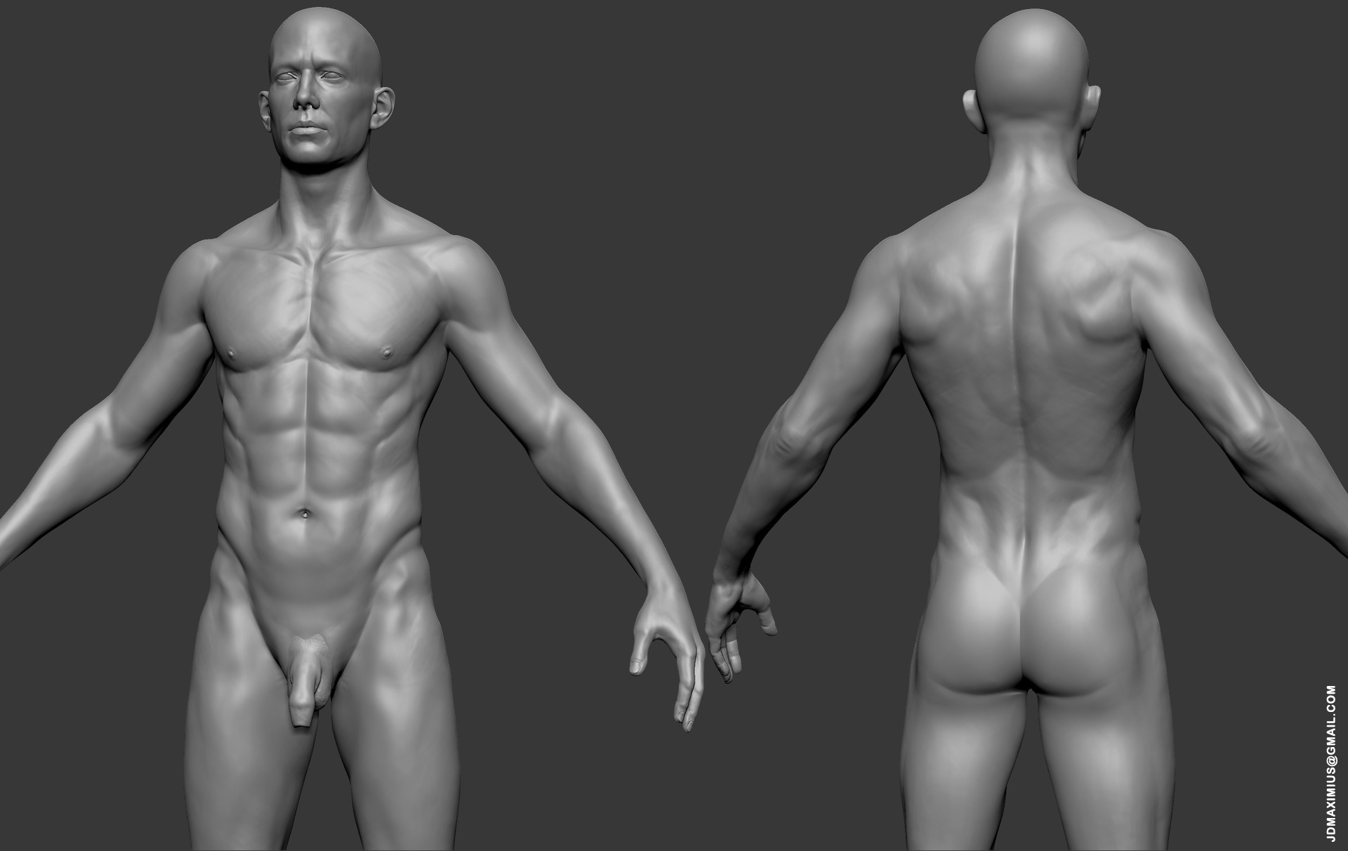 ArtStation - Anatomy Male, Juan Diego Lugo