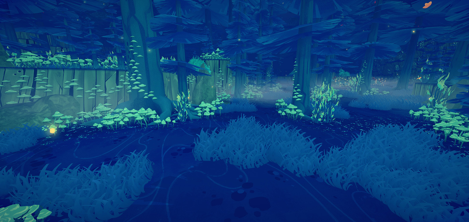 A screenshot of a area for which I was responsible in regards of Level Design and Set Dressing.