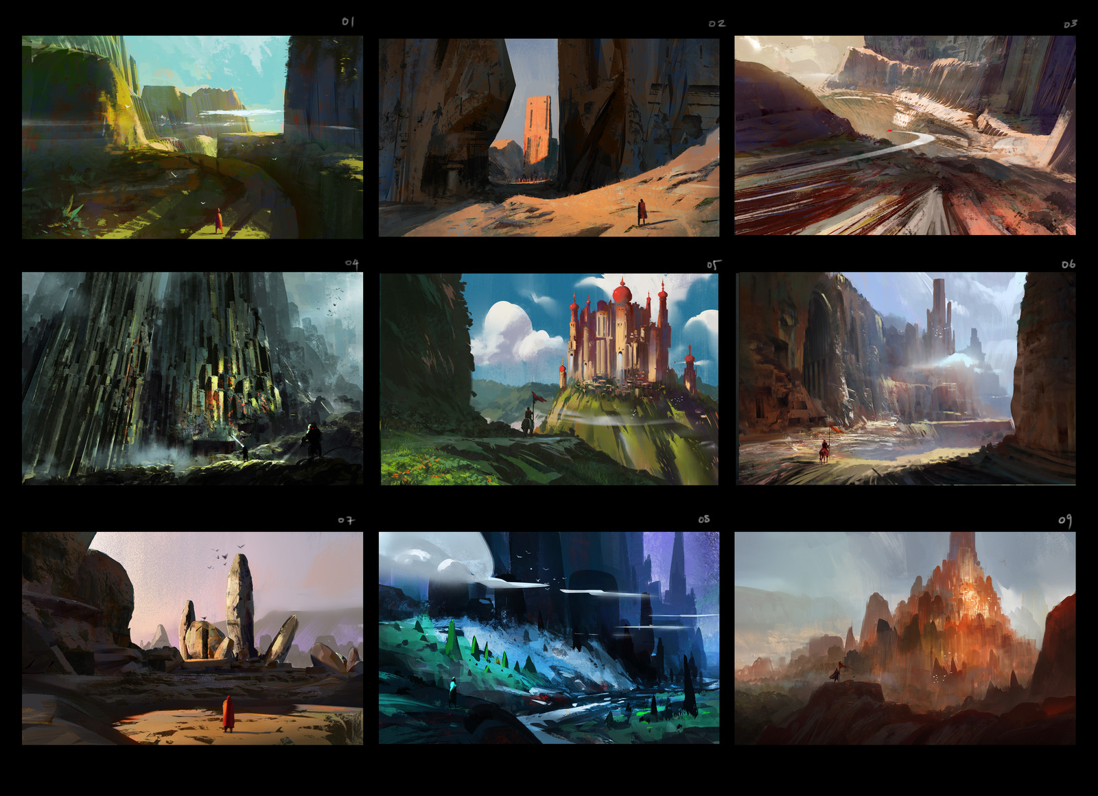 Environment Design Sketches ( Batch 01 )