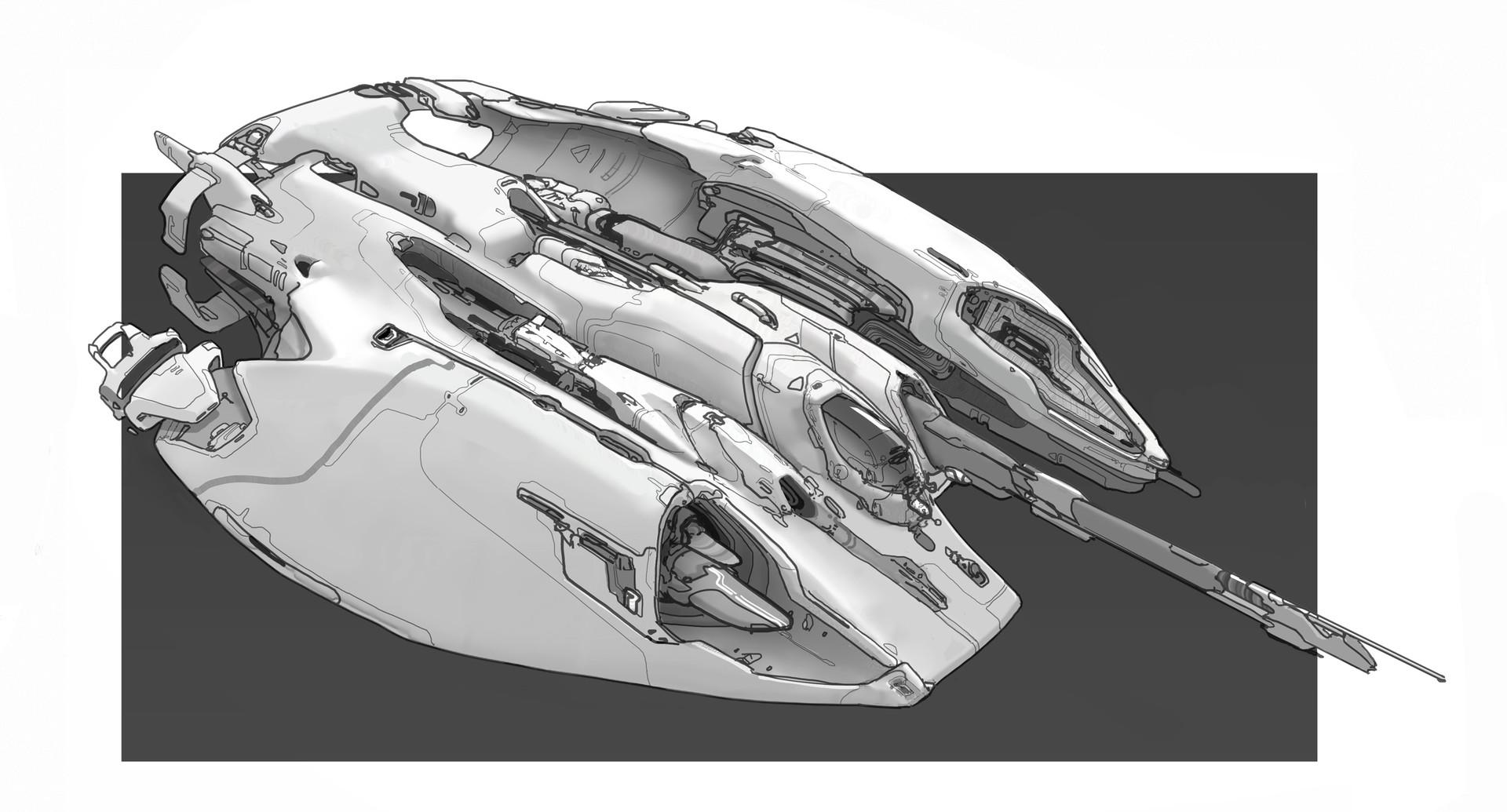 Ship design sketch