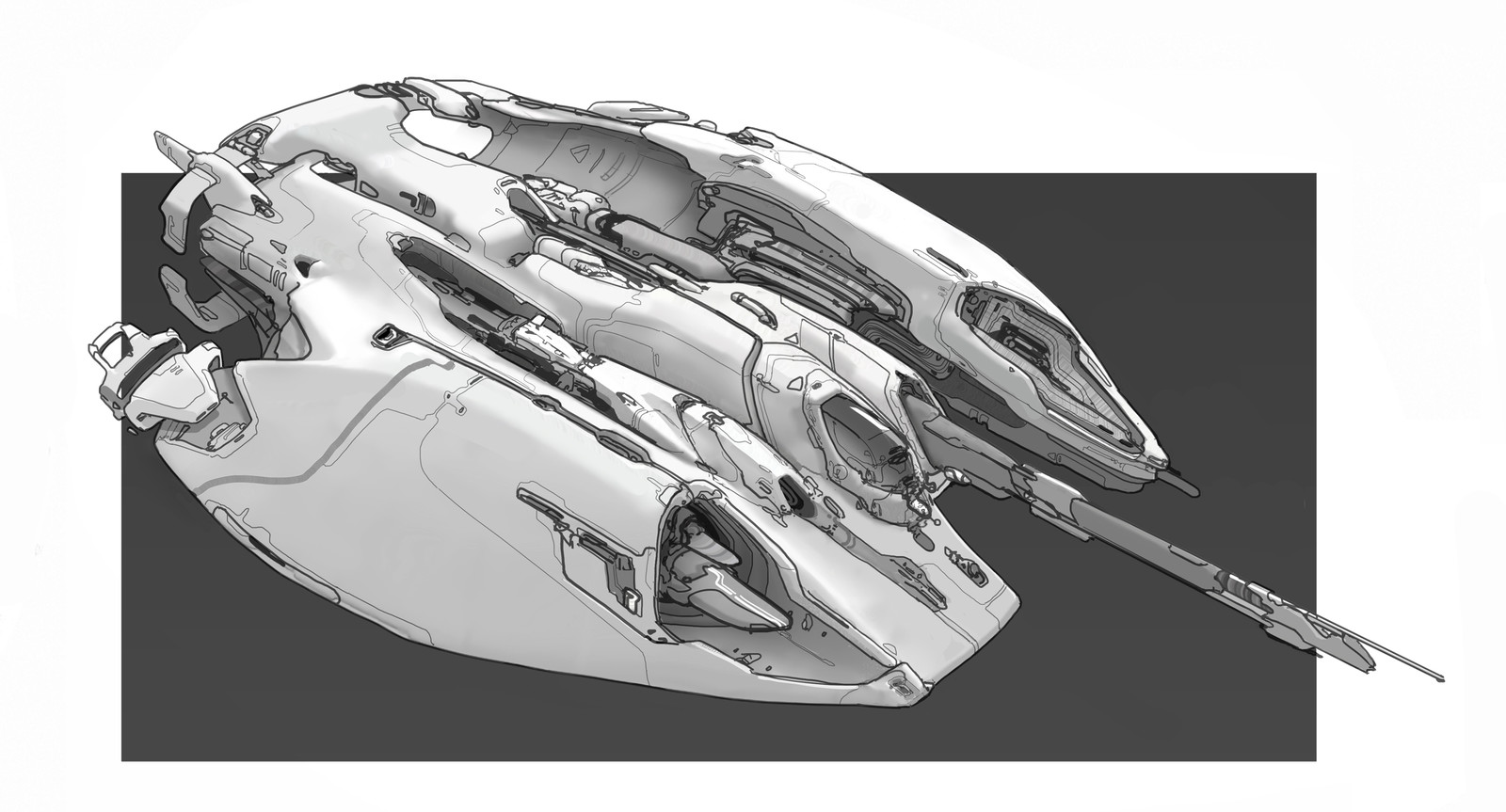 Ship design sketch