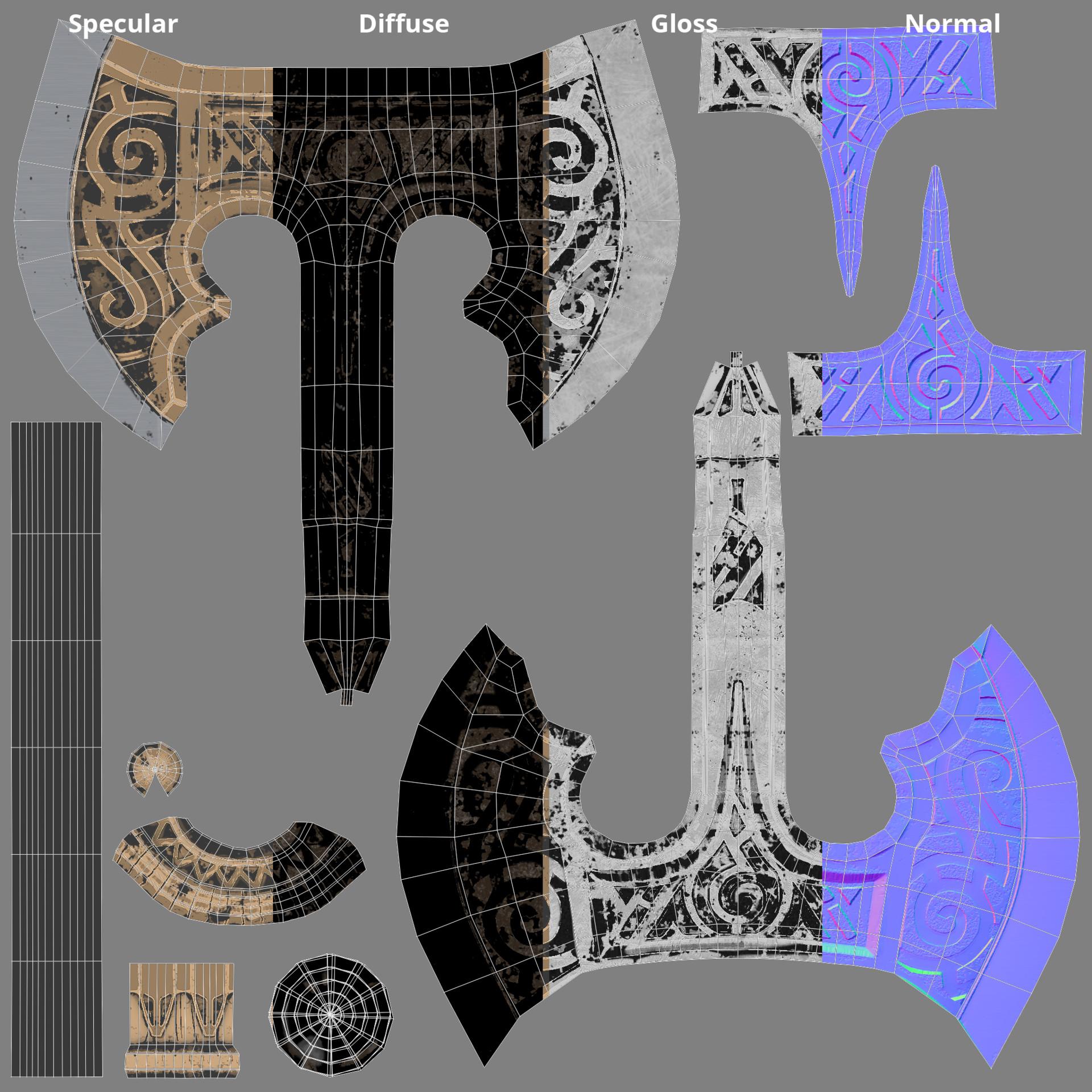 Matteo stella axe texture set
