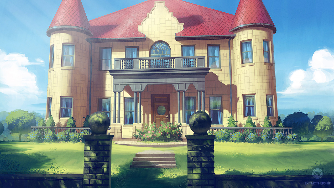 Artstation Mansion Visual Novel Background Julian Seifert With Process From Color Sketch To Pre Final Version