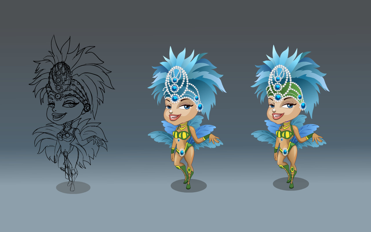 Rio Girl Character design