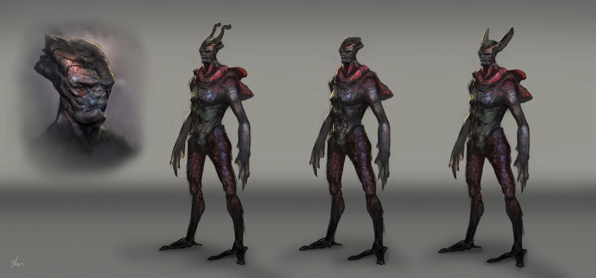 Brent minehan marine alien character designs