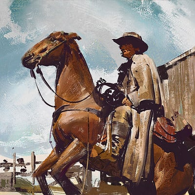 Greg rutkowski western study 1920