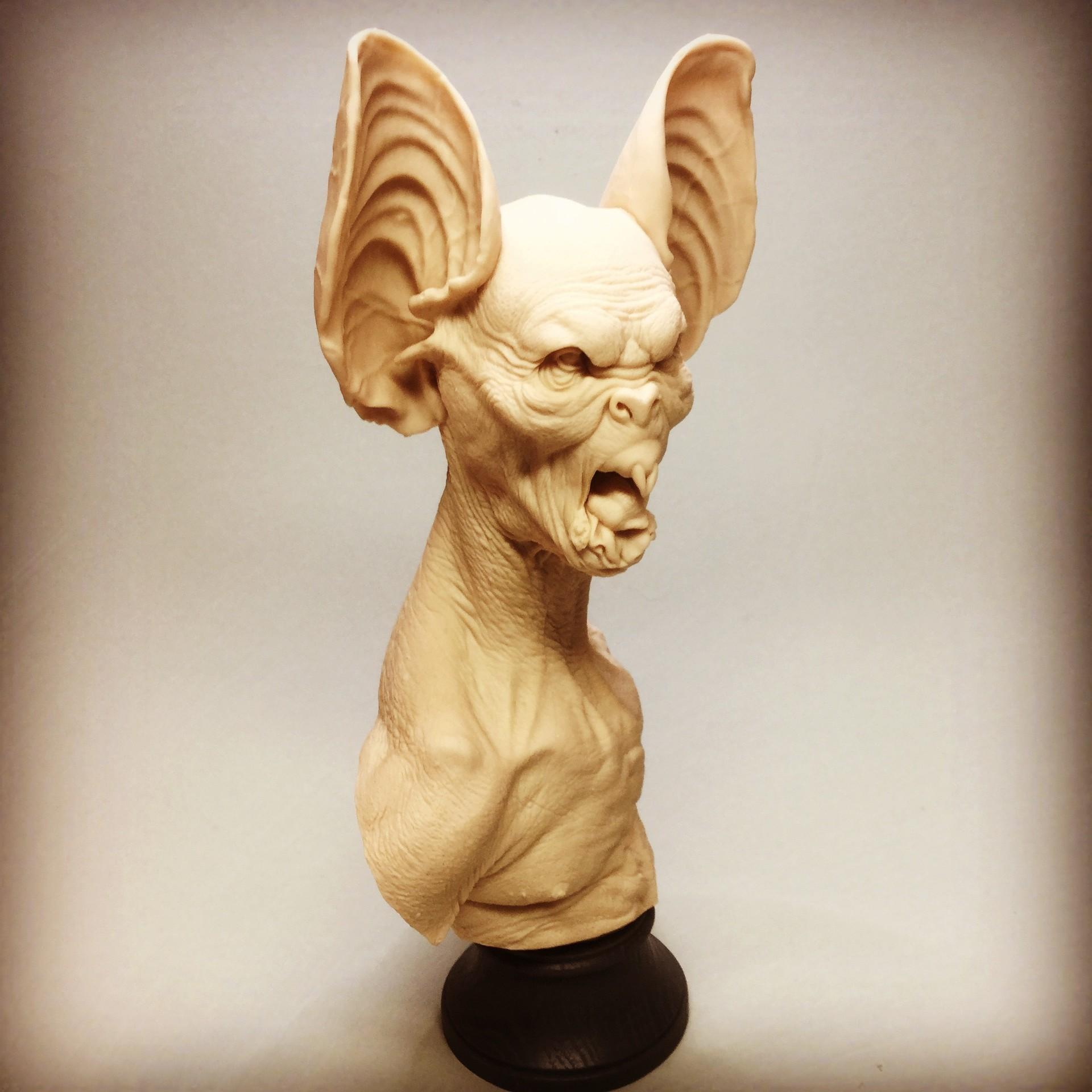 Dracula/Bat bust/cast resin