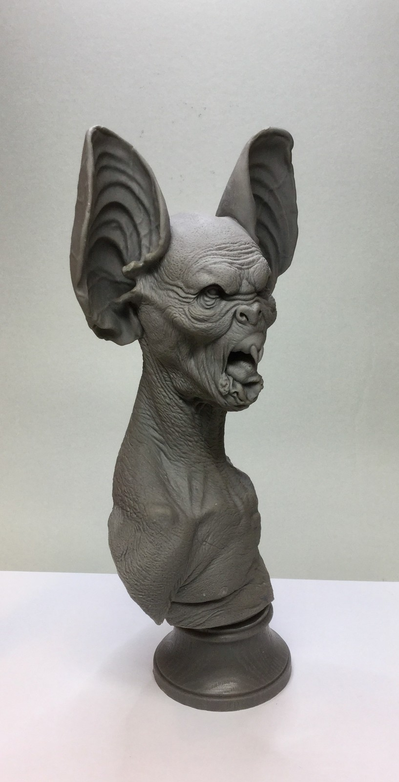 Dracula/Bat bust/cast resin