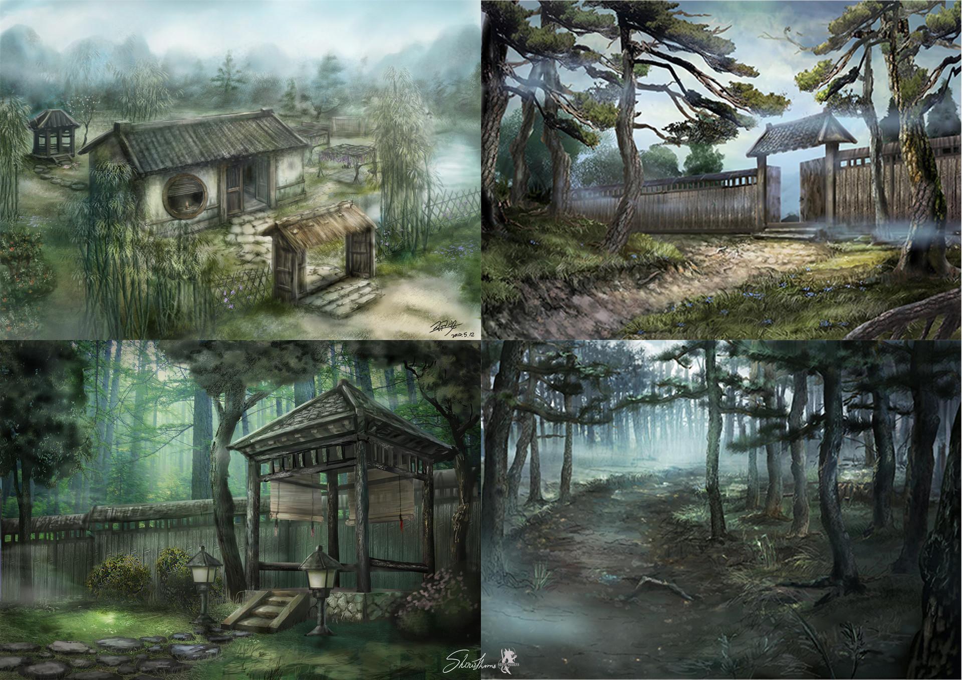 Chinese scene concept art