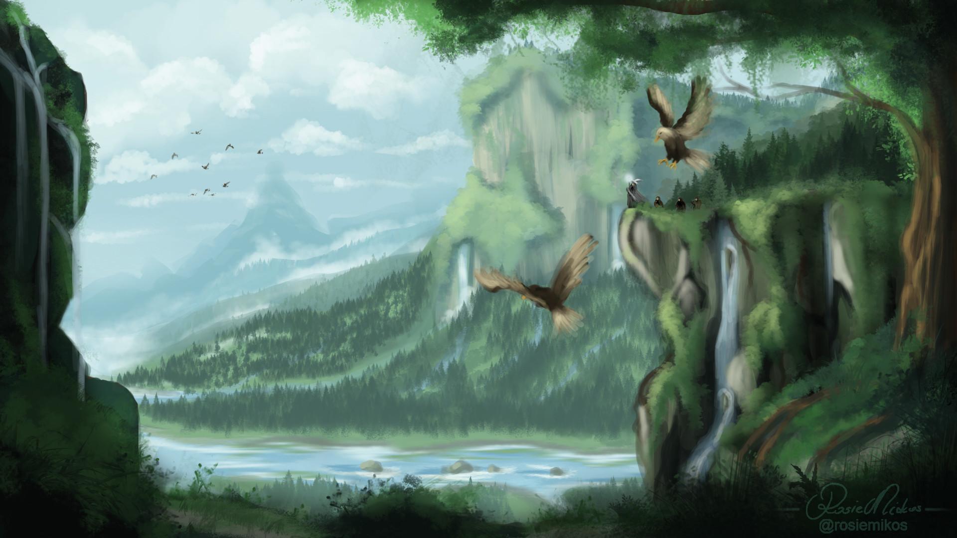 Artstation Fourth Environmental The Hobbit Lonely Mountain