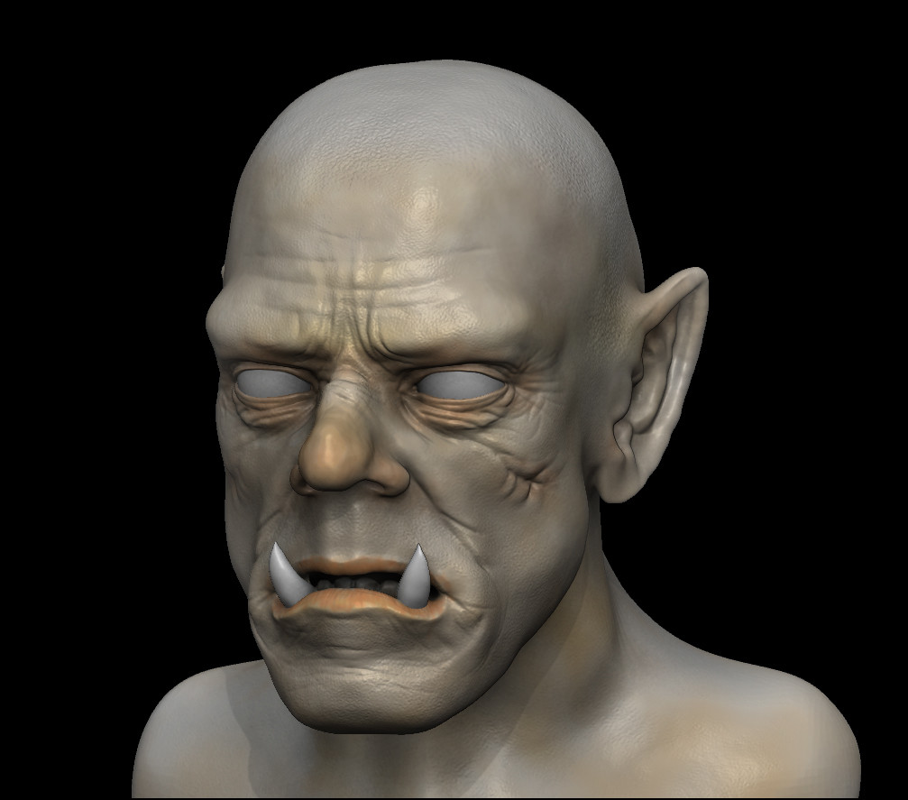 Orc initial view from Zbrush render.