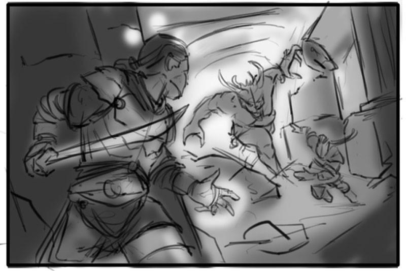 Revels in Trickery- Sketch02