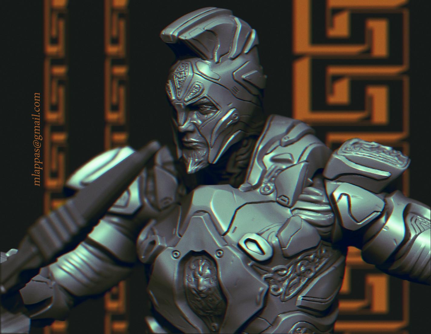 Sci Fi Spartan Soldier render & 3D print