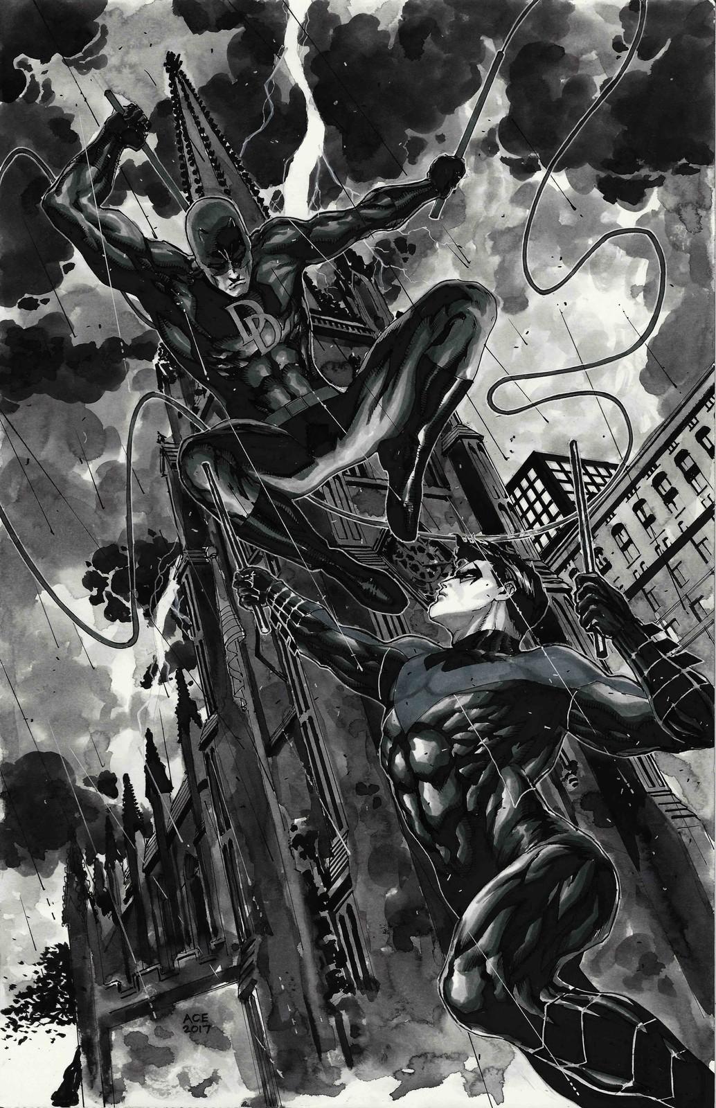 Daredevil vs Nightwing