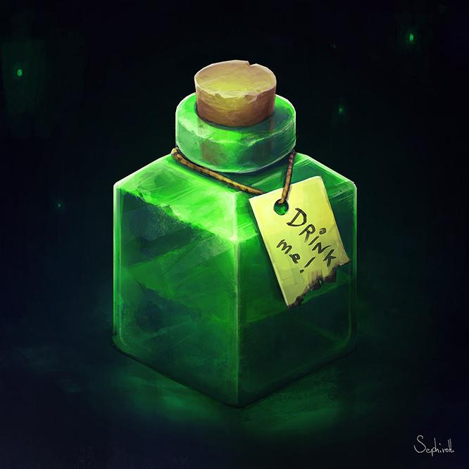 Sephiroth art green insta 04