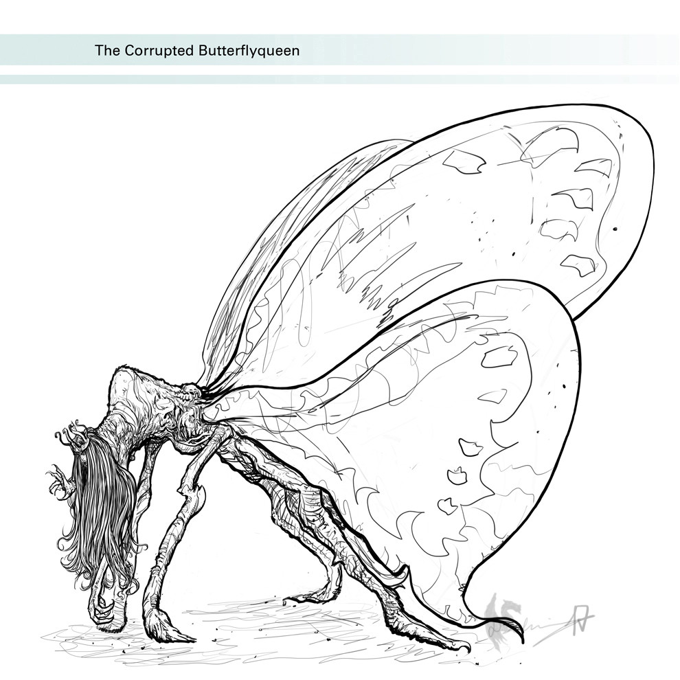The Corrupted Butterflyqueen - finished drawing