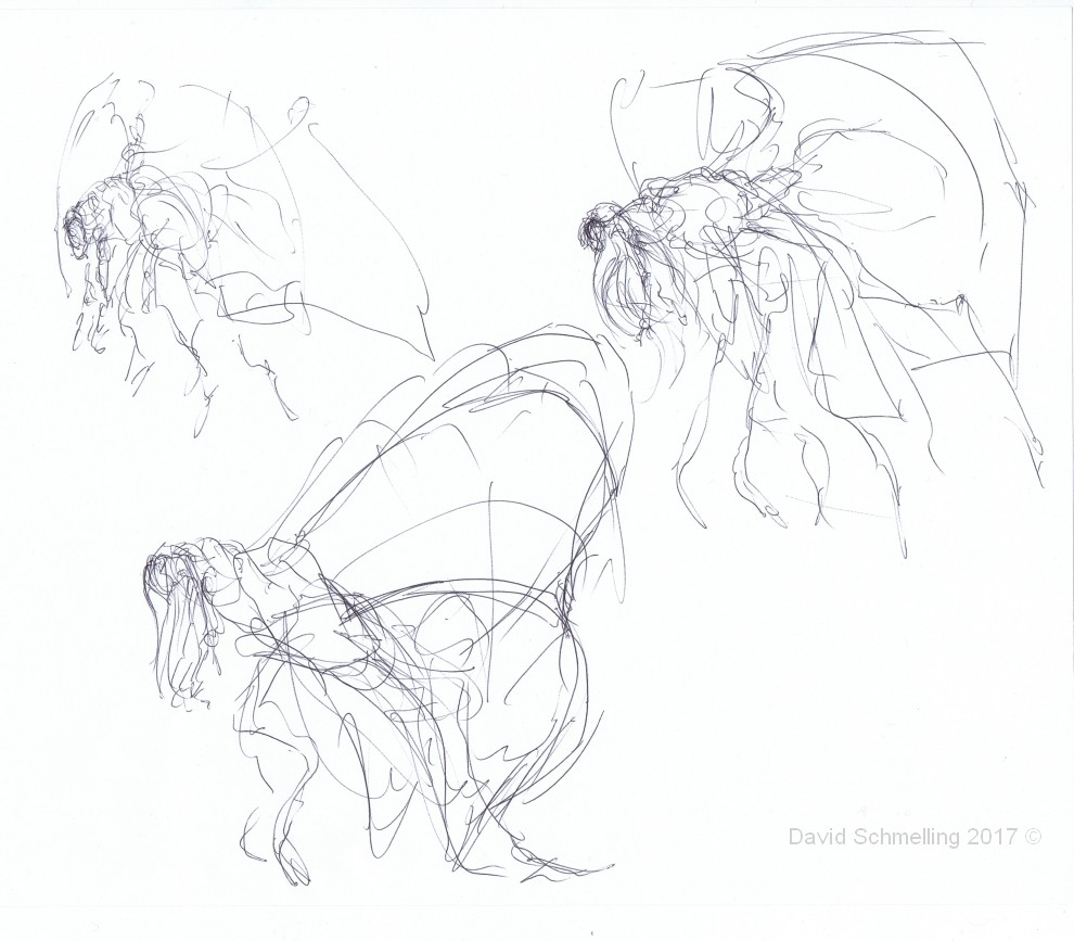 The Corrupted Butterflyqueen - first rough sketches