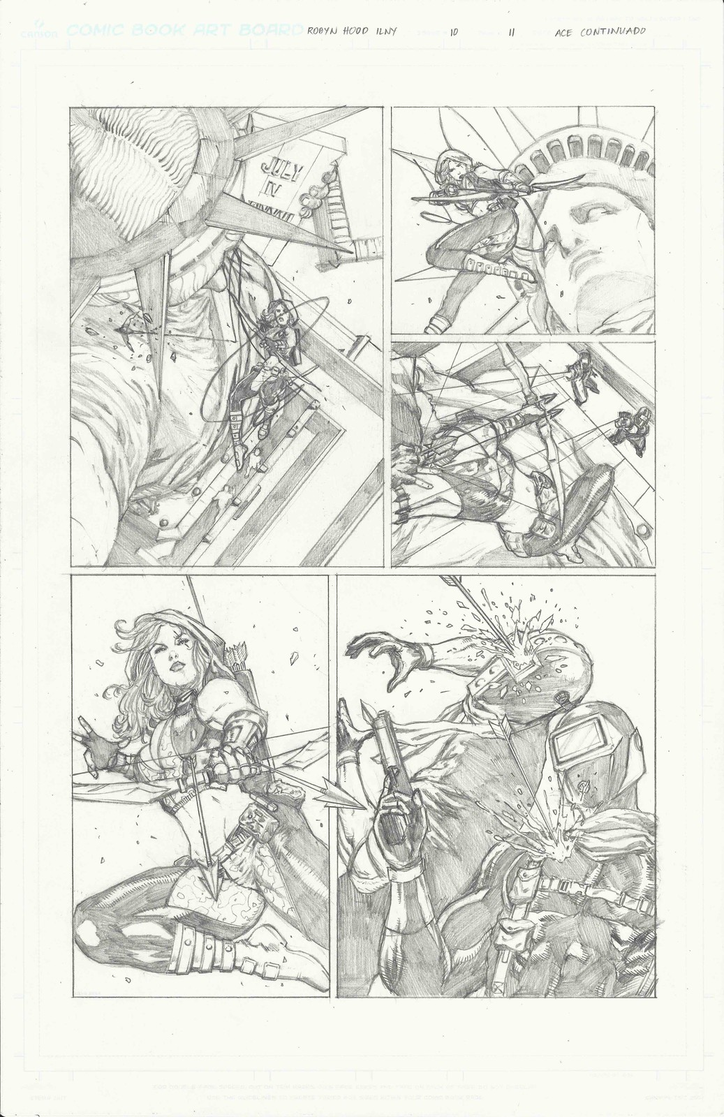 Page 11 of Robyn Hood I Love New York #10 from Zenescope Entertainment.