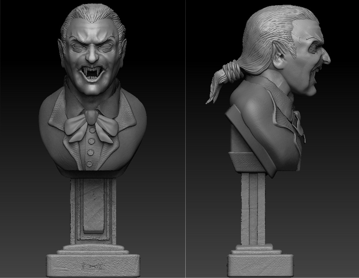 Dracula Enraged Brush sculpted in Zbrush