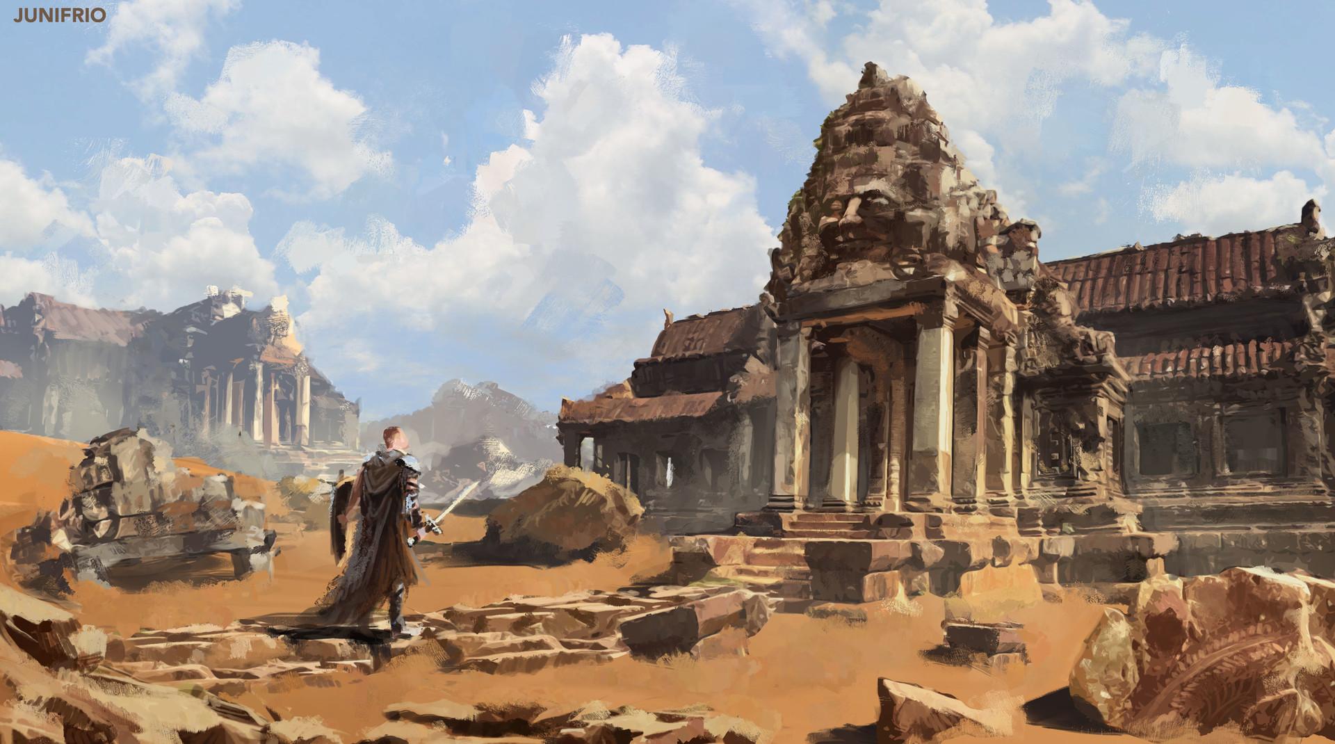 Songshu Mountain and surrounding areas Juni-frio-desert-ruins-2b