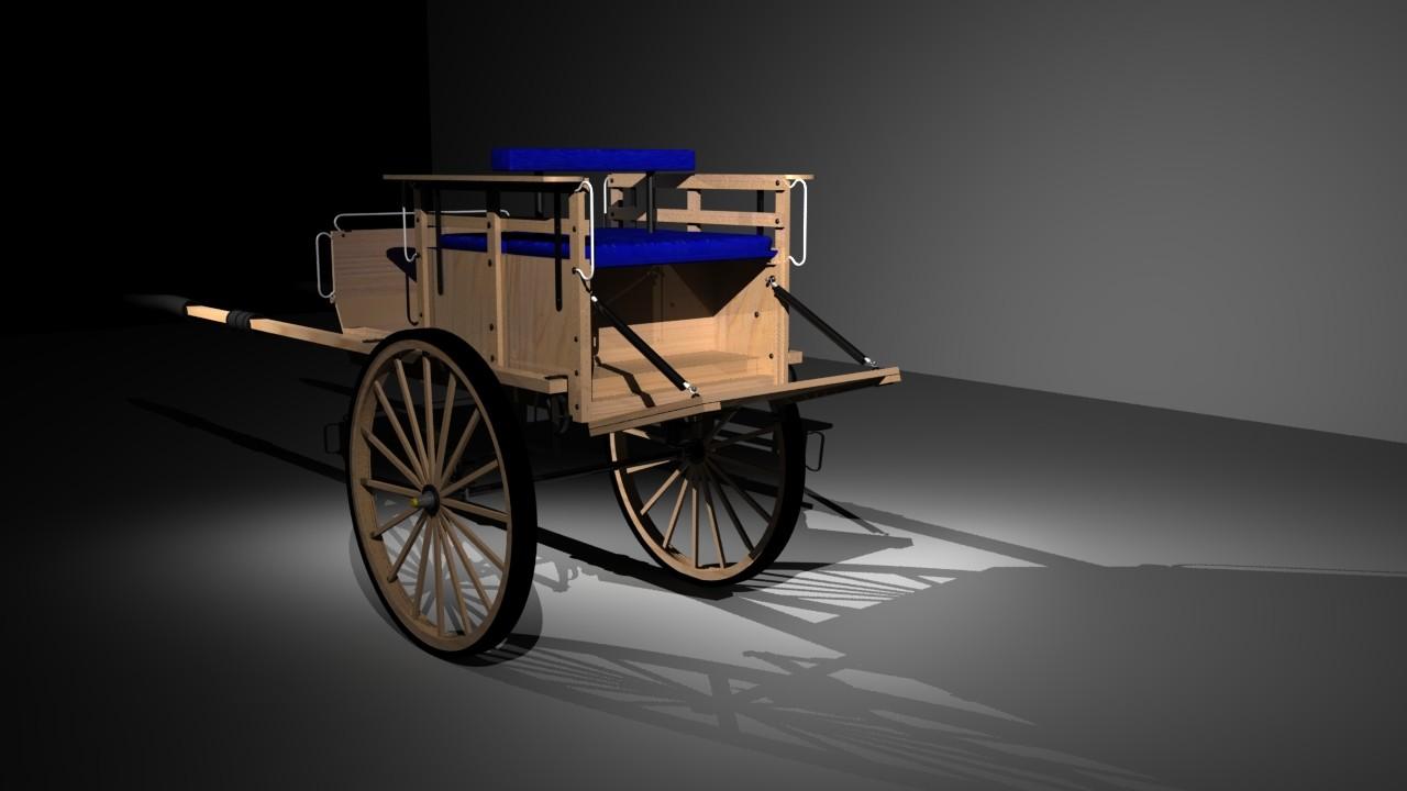V jsvira s back of cart